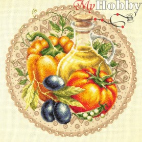 Complete Counted Cross Stitch Kit 'Mediterranean Salad' 27 x 27cm - MAGIC NEEDLE art: 54-01