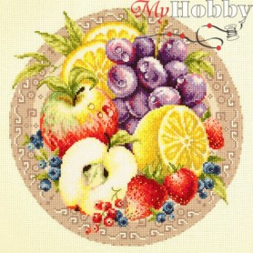 Complete Counted Cross Stitch Kit 'Fruits' 27 x 27cm - MAGIC NEEDLE art: 54-02