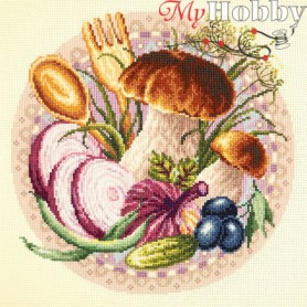 Complete Counted Cross Stitch Kit 'Favorite Snacks' 27 x 27cm - MAGIC NEEDLE art: 54-03