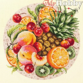 Complete Counted Cross Stitch Kit 'Exotic Fruits' 27 x 27cm - MAGIC NEEDLE art: 54-04