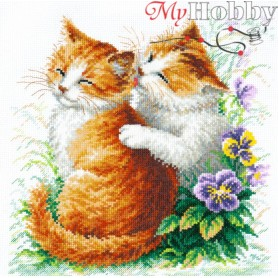 Complete Counted Cross Stitch Kit 'Gentle Care' 24 x 26cm - MAGIC NEEDLE art: 58-11