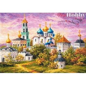 Complete Counted Cross Stitch Kit 'The Holy Trinity-St. Sergius Lavra' 40 x 30cm - MAGIC NEEDLE art: 75-06