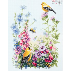 Complete Counted Cross Stitch Kit 'Summer song' 31 x 40cm - MAGIC NEEDLE art: 130-031