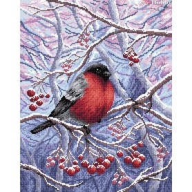 Diamond Embroidery Painting Kit In a snowy forest Collection D'Art - size 38x48