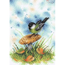 Diamond Embroidery Painting Kit On the mushroom woodside Collection D'Art - size 19x27