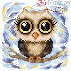 Diamond Embroidery Painting Kit Ducky owl Collection D'Art - size 20x20