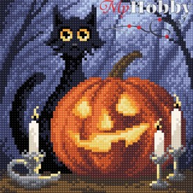Diamond Embroidery Painting Kit Cheerful Halloween Collection D'Art - size 20x20