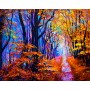 Diamond embroidery and mosaic paintings 'Autumn Forest Path' Size 40x50cm DIY art. by Tsvetnoy - LG287e