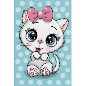 Diamond embroidery and mosaic paintings 'Cute Kitten' Size 20x30cm DIY art. by Tsvetnoy - LC040e