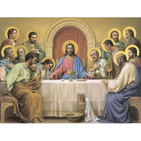 Diamond embroidery and mosaic paintings 'The Last Supper' Size 50x65cm DIY art. by Tsvetnoy - LMC021e