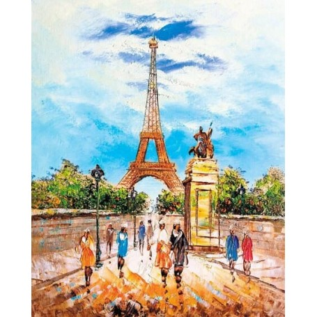 Diamond embroidery and mosaic paintings 'Eiffel Tower' Size 40x50cm DIY art. by Tsvetnoy - LG281e