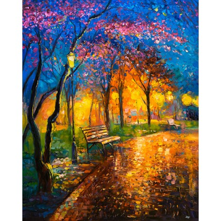 Diamond embroidery and mosaic paintings 'Autumn Evening' Size 40x50cm DIY art. by Tsvetnoy - LG286e