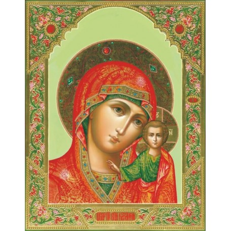 Diamond embroidery and mosaic paintings 'Icon of Our Lady of Kazan' Size 40x50cm DIY art. by Tsvetnoy - LGP022e