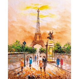 Paint by numbers 'Eiffel Tower' Size 40x50cm DIY art. by Tsvetnoy - MG2405e