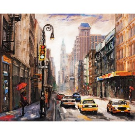 Paint by numbers 'New York City' Size 40x50cm DIY art. by Tsvetnoy - MG2407e