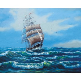 Paint by numbers 'Ship with white sails' Size 40x50cm DIY art. by Tsvetnoy - MG2410e
