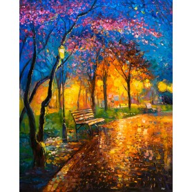 Paint by numbers 'Autumn Evening' Size 40x50cm DIY art. by Tsvetnoy - MG2411e