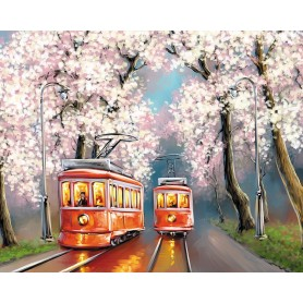 Paint by numbers 'Spring trams' Size 40x50cm DIY art. by Tsvetnoy - MG2418e