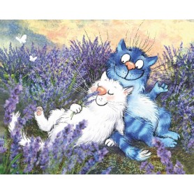 Paint by numbers 'Cats - In Lavender' Size 40x50cm DIY art. by Tsvetnoy - ME1133e