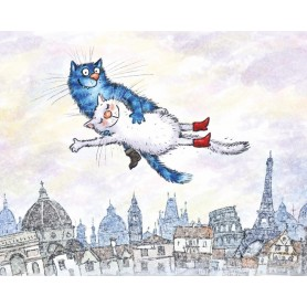 Paint by numbers 'Cats - Flying in a Dream' Size 40x50cm DIY art. by Tsvetnoy - ME1137e