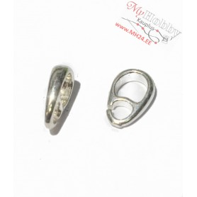"""Pendant hooks, silver """"AG925"""", length: 9mm, width: 2,5mm, solid silver, 1pc"""