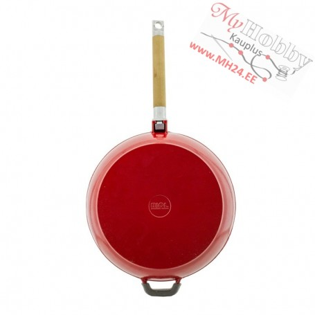 Enamelled Cast iron frying pan with removable handle (Ø 24 cm depth 5.8 cm)