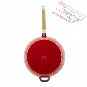 Enamelled Cast iron frying pan with removable handle (Ø 28 cm depth 6.6 cm)