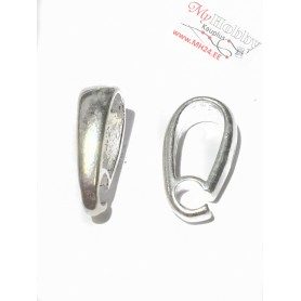 """Pendant hooks, silver """"AG925"""", length: 12mm, width: 3,5mm, solid silver, 1pc"""