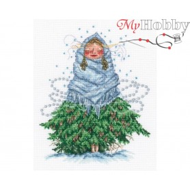 "Cross-stitch kit ""Don`t be cold, Little fir"" size (cm) 18x22.5 - RTO M823"