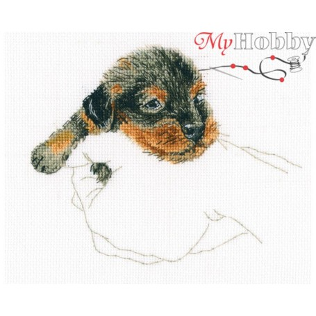"Cross-stitch kit ""In palms"" size (cm) 15.5x12.5 - RTO M818"