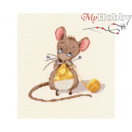 "Cross-stitch kit ""Cheese knitting"" size (cm) 10x10 - RTO M800"