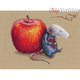 """Cross-stitch kit """"Mouse in love"""" size (cm) 14x20 - RTO M799"""