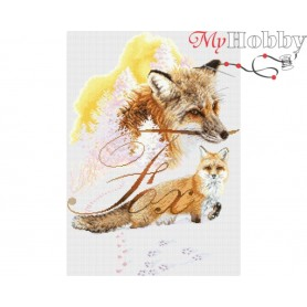 "Cross-stitch kit Cross-stitch kit ""Fox"" size (cm) 28.5x40.5 - RTO M784"
