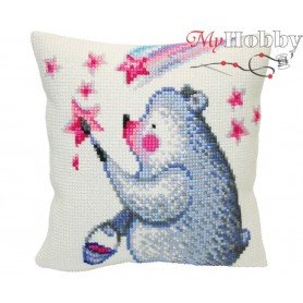Cross Stitch Cushion Kit - Painting the stars, size (cm) 40x40 - D'Art 5420