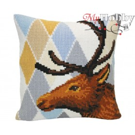 Cross Stitch Cushion Kit - Deer, size (cm) 40x40 - D'Art 5414
