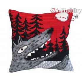 Cross Stitch Cushion Kit - Singing at the moon, size (cm) 40x40 - D'Art 5410