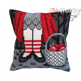 Cross Stitch Cushion Kit - Sweets, size (cm) 40x40 - D'Art 5409