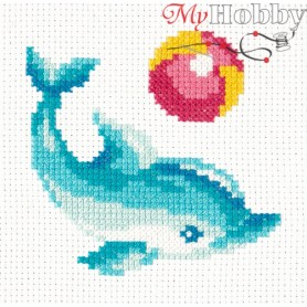 Complete Counted Cross Stitch Kit 'Dolphin' 12 x 12cm - MAGIC NEEDLE art: 10-30