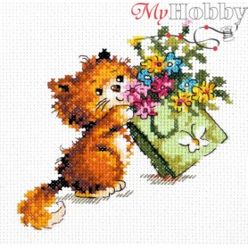 Complete Counted Cross Stitch Kit 'Just for You' 12 x 12cm - MAGIC NEEDLE art: 15-16
