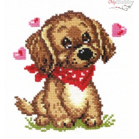 Complete Counted Cross Stitch Kit 'I Dream of You' 12 x 13cm - MAGIC NEEDLE art: 16-09