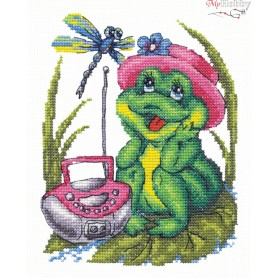 Complete Counted Cross Stitch Kit 'My favorite song' 14 x 17cm - MAGIC NEEDLE art: 18-37