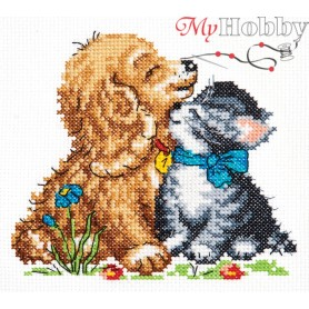 Complete Counted Cross Stitch Kit 'Tenderness' 13 x 12cm - MAGIC NEEDLE art: 18-46