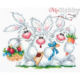 Complete Counted Cross Stitch Kit 'Have Fun!' 19 x 15cm - MAGIC NEEDLE art: 18-88