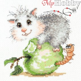 Complete Counted Cross Stitch Kit 'What's up?' 13 x 13cm - MAGIC NEEDLE art: 19-17