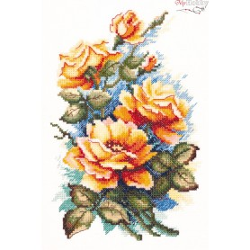 Complete Counted Cross Stitch Kit 'For my Darling' 15 x 22cm - MAGIC NEEDLE art: 40-49