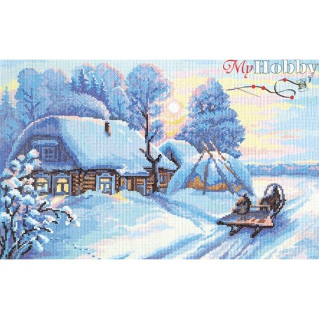 Complete Counted Cross Stitch Kit 'Frosty and sunny' 40 x 27cm - MAGIC NEEDLE art: 43-04