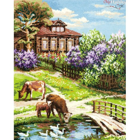 Complete Counted Cross Stitch Kit 'Old story' 31 x 40cm - MAGIC NEEDLE art: 43-05