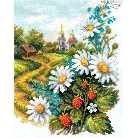 Complete Counted Cross Stitch Kit 'Lovely heart' 20 x 26cm - MAGIC NEEDLE art: 43-12