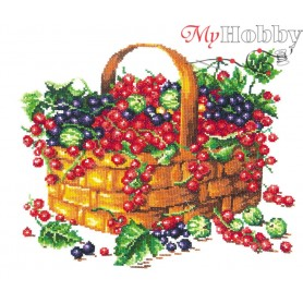 Complete Counted Cross Stitch Kit 'Summer Fruits' 26 x 22cm - MAGIC NEEDLE art: 55-09