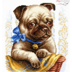 Complete Counted Cross Stitch Kit 'Do I Look Nice?' 20 x 21cm - MAGIC NEEDLE art: 59-15